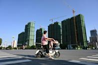 A state crackdown on China's colossal property market has helped send Evergrande to the brink of collapse (AFP/JADE GAO)