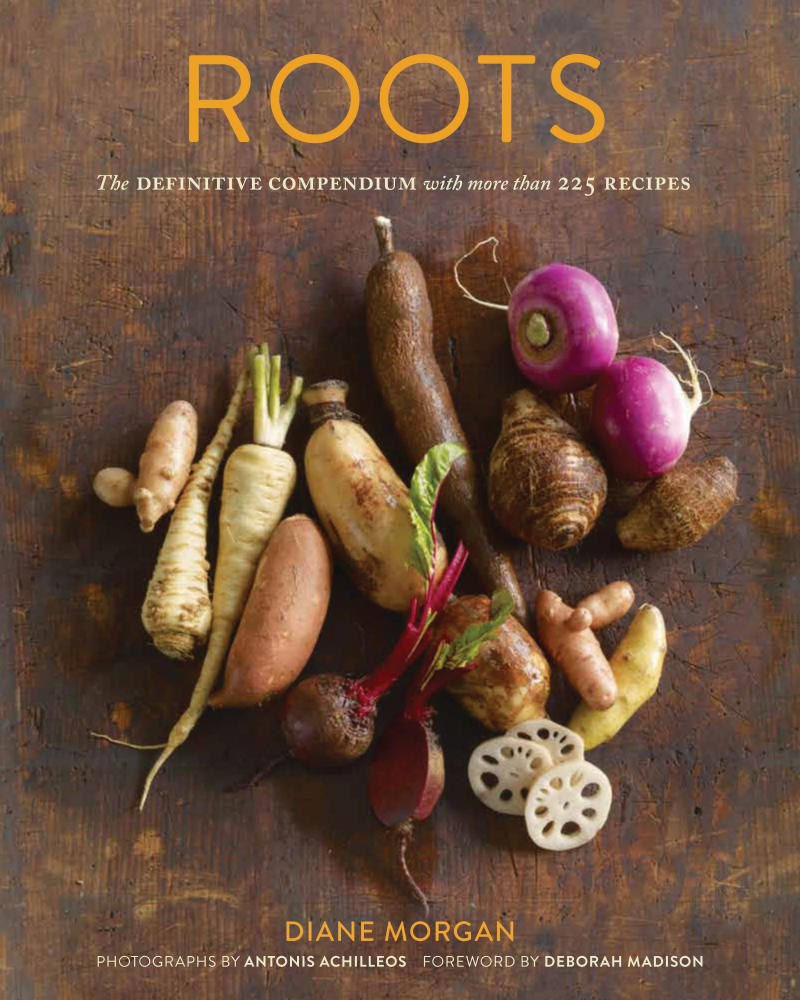 "This undated publicity photo provided by Chronicle Books shows the cover of Deborah Morgan's cookbook, ""Roots: The Definitive Compendium with More than 225 Recipes,"" published by Chronicle Books (2012). (AP Photo/Chronicle Books,  Antonis Achilleos)"