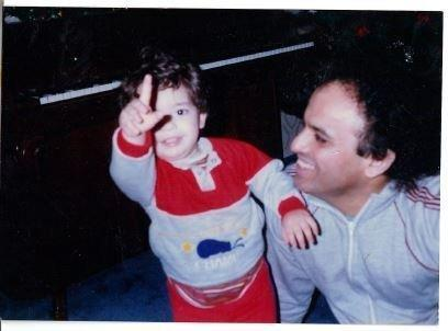 Me and my dad when I was a kid. (Tawney)