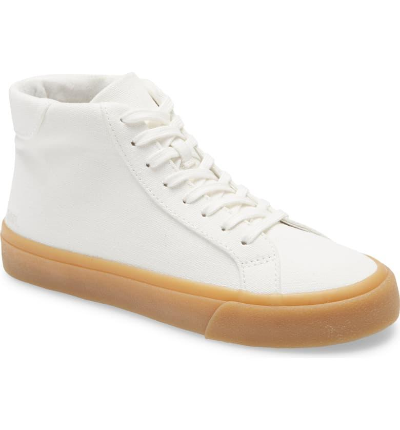 "<br><br><strong>Madewell</strong> Sidewalk High Top Sneakers, $, available at <a href=""https://go.skimresources.com/?id=30283X879131&url=https%3A%2F%2Fshop.nordstrom.com%2Fs%2Fmadewell-sidewalk-high-top-sneakers-in-recycled-canvas-women%2F5515282"" rel=""nofollow noopener"" target=""_blank"" data-ylk=""slk:Nordstrom"" class=""link rapid-noclick-resp"">Nordstrom</a>"