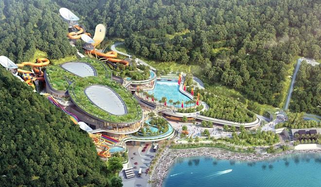 A HK$2.9 billion water park, known as Tai Shue Wan Water World, will come up at Ocean Park next year. Photo: Handout
