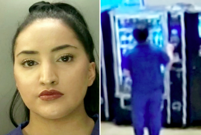 Ayesha Basharat was caught buying several snacks from a hospital vending machine using a dead patient's bank card. (SWNS)