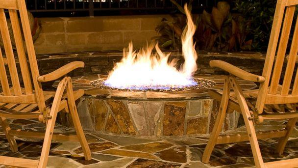 PHOTO: A fire pit burns in a backyard setting in an undated stock image. (STOCK IMAGE/1photodiva/Getty Images)