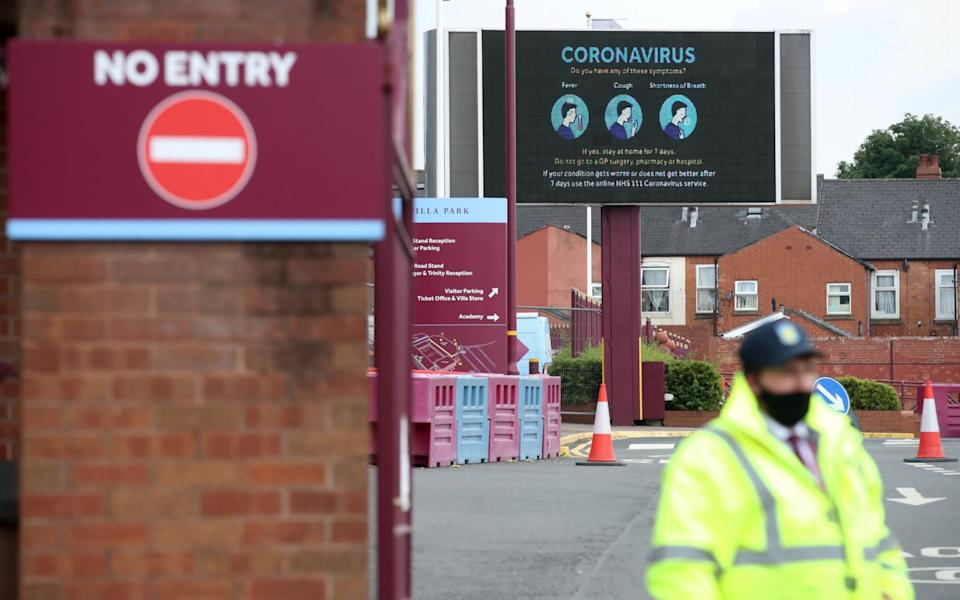 aston villa ground with no people - REUTERS