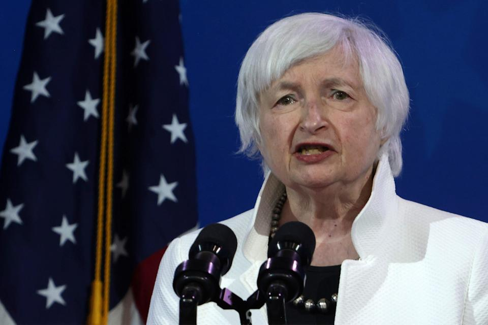 Secretary of the Treasury nominee Janet Yellen speaks during an event to name President-elect Joe Biden's economic team at the Queen Theater on Dec. 1, 2020, in Wilmington, Delaware.