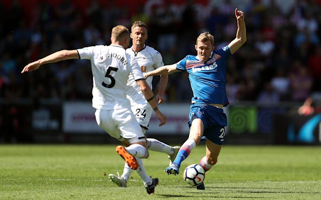 Swansea City vs Stoke City LIVE: Premier League 2017-18 latest score and relegation standings, goal updates, TV channel, team news, line-ups