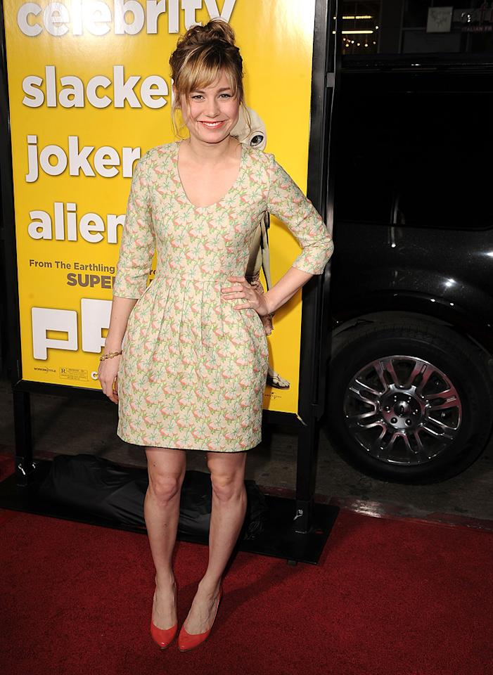 """<a href=""""http://movies.yahoo.com/movie/contributor/1804572363"""">Brie Larson</a> attends the Los Angeles premiere of <a href=""""http://movies.yahoo.com/movie/1810097993/info"""">Paul</a> on March 14, 2011."""