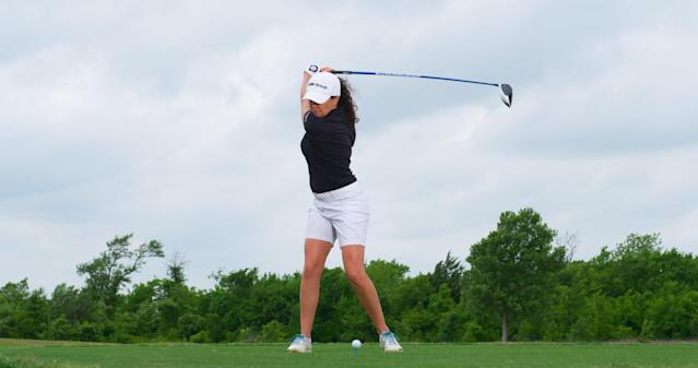 "<p><strong>Coil to recoil</strong></p> <p>One thing you'll rarely see is Martin transition from backswing to downswing awkwardly. ""Her lower body is leading, pulling her upper body while her arms stay relaxed,"" Triggs says. She also has retained the wrist angles set earlier, giving her the potential for more speed at impact.</p>"