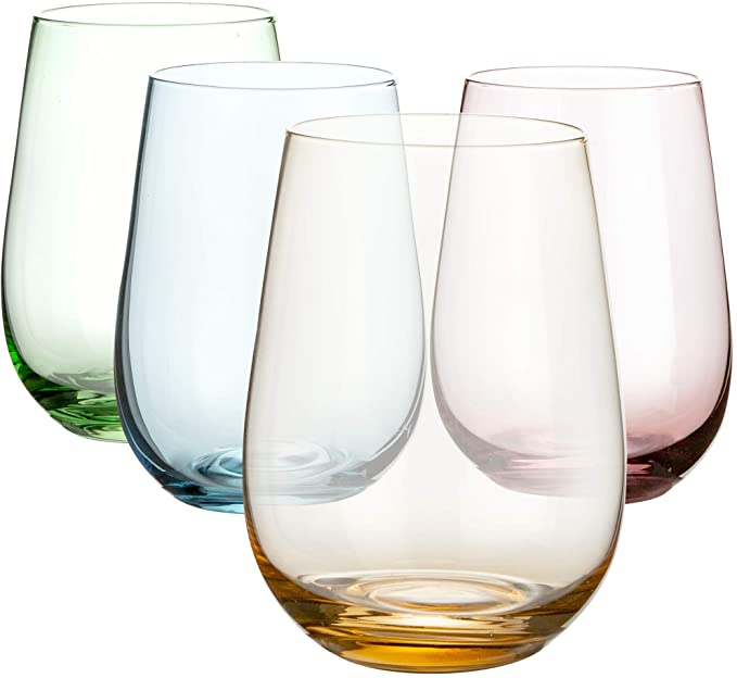 "<h3><a href=""https://amzn.to/33y00iU"" rel=""nofollow noopener"" target=""_blank"" data-ylk=""slk:Colored Stemless Wine Glass Set"" class=""link rapid-noclick-resp"">Colored Stemless Wine Glass Set</a></h3><br>Add a touch of subtle color to any craft-cocktail maker's set up with these colored stemless gifts.<br><br><strong>DIKO</strong> Colored Stemless Wine Glasses (Set of 4), $, available at <a href=""https://amzn.to/33y00iU"" rel=""nofollow noopener"" target=""_blank"" data-ylk=""slk:Amazon"" class=""link rapid-noclick-resp"">Amazon</a>"