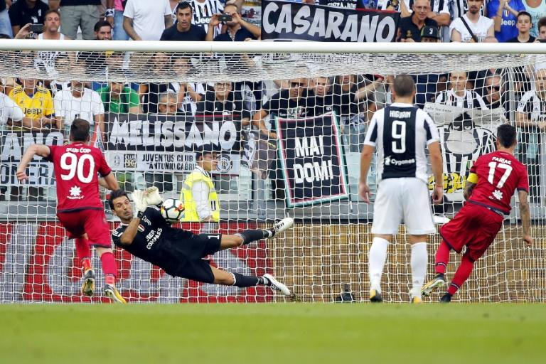Buffon saves Serie A's first VAR penalty in Juve's comfortable win