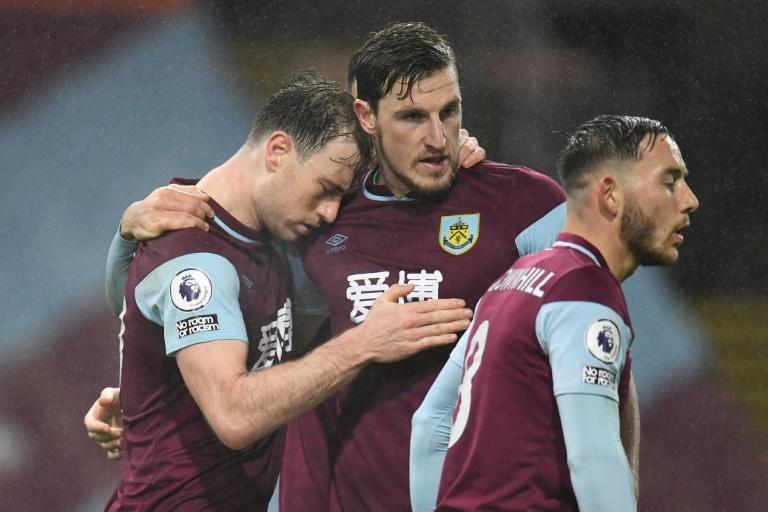 Burnley forward Ashley Barnes (left) celebrates his goal against Wolves