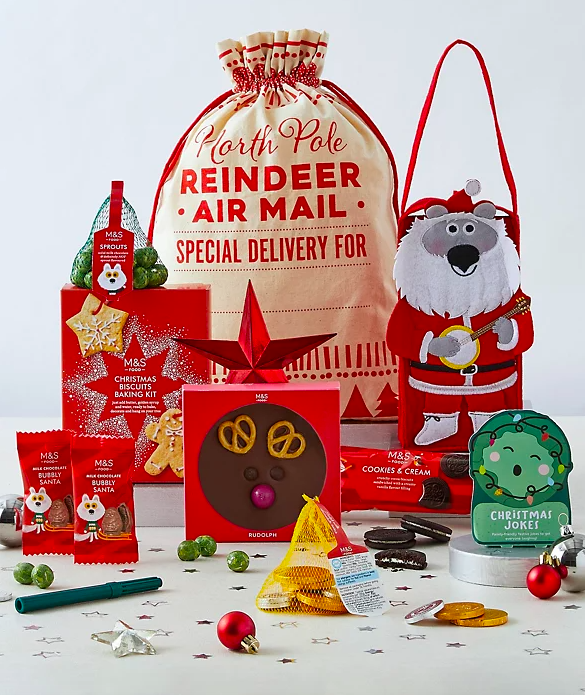 Santa's Sack of Christmas Treats . (Marks & Spencer)