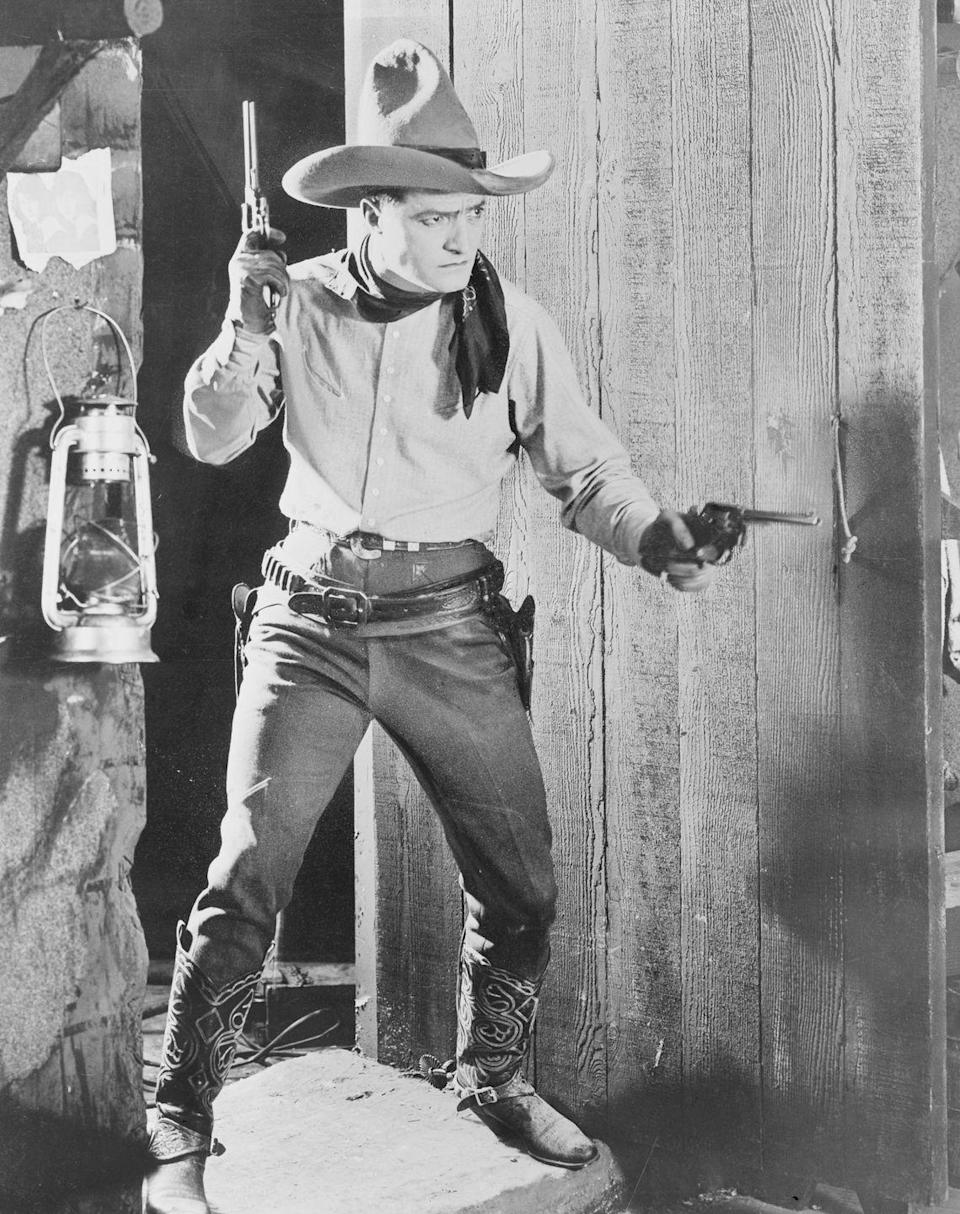 <p>Denim was still a relatively new style in the 1920s — that is, until it began popping up in Westerns. Actor Tom Mix was famous for his cowboy films and especially his jeans in <em>The Untamed. </em></p>
