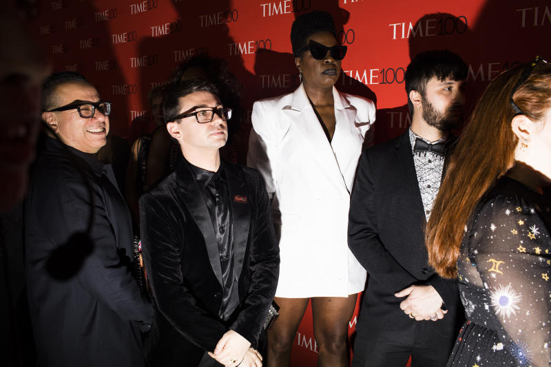 Designer Christian Siriano (second left) and Leslie Jones (center) at the Time 100 Gala at Jazz at Lincoln Center on April 24, 2018 in New York City.