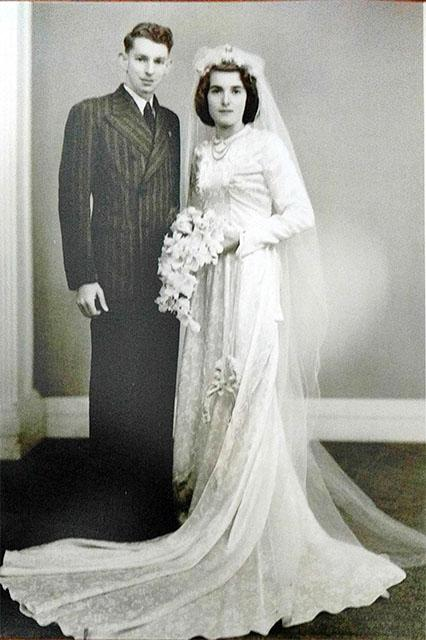 Skye's grandmother in 1948 wedding dress