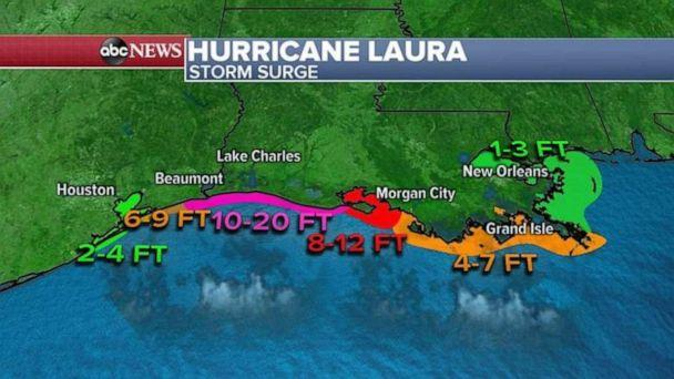 PHOTO: Forecasts show up to 20 feet of storm surge is expected. (ABC News)