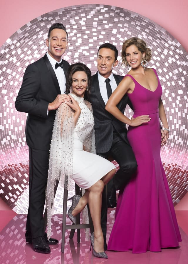 Strictly judges Craig Revel Horwood, Shirley Ballas, Bruno Tonioli, Dame Darcey Bussell