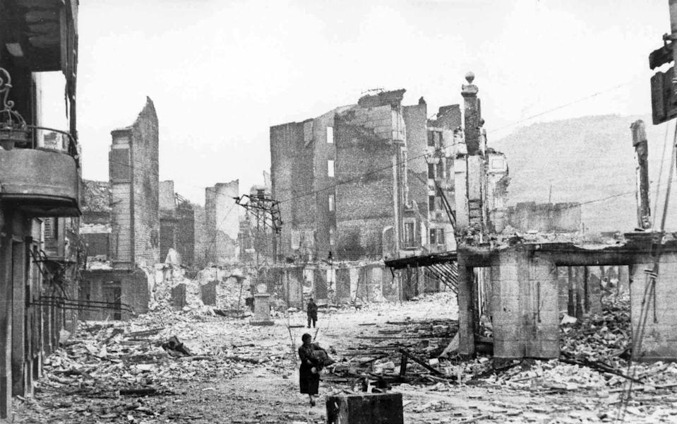 The town after the bombing