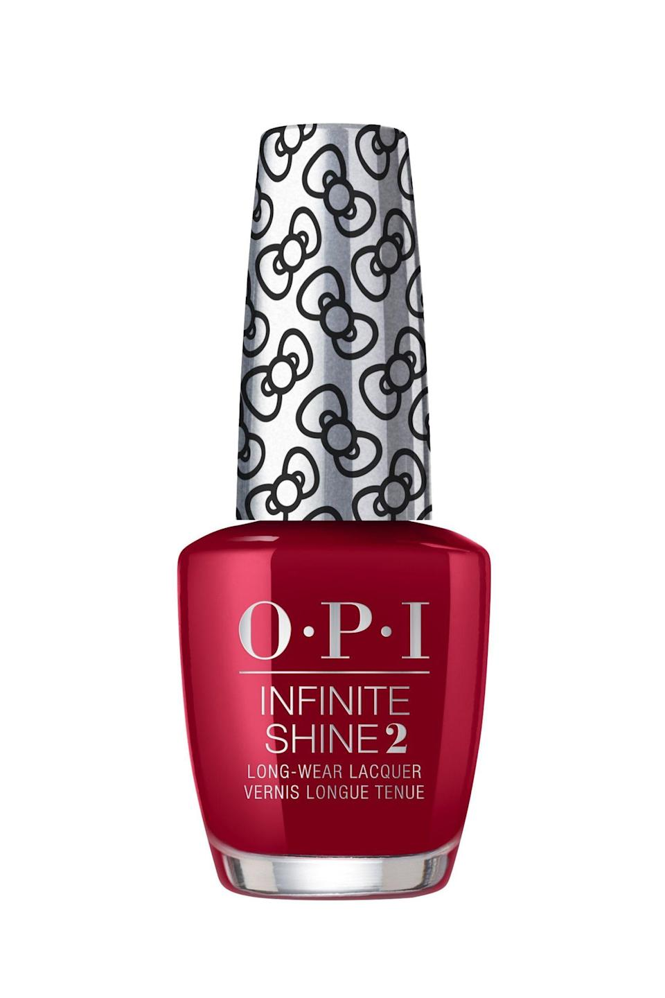"""<p><strong>OPI</strong></p><p>ulta.com</p><p><strong>$100.00</strong></p><p><a href=""""https://go.redirectingat.com?id=74968X1596630&url=https%3A%2F%2Fwww.ulta.com%2Fhello-kitty-infinite-shine-collection%3FproductId%3Dpimprod2008932&sref=https%3A%2F%2Fwww.marieclaire.com%2Fbeauty%2Fnews%2Fg3310%2Fbest-nail-colors-winter%2F"""" rel=""""nofollow noopener"""" target=""""_blank"""" data-ylk=""""slk:SHOP IT"""" class=""""link rapid-noclick-resp"""">SHOP IT</a></p><p>Like a pour of your favorite full-body Cabernet, this rich burgundy will never do you wrong. It's a classic hue that will complement all complexions, and go gorgeously with your Christmas decor if you're really feeling the holiday spirit. </p>"""