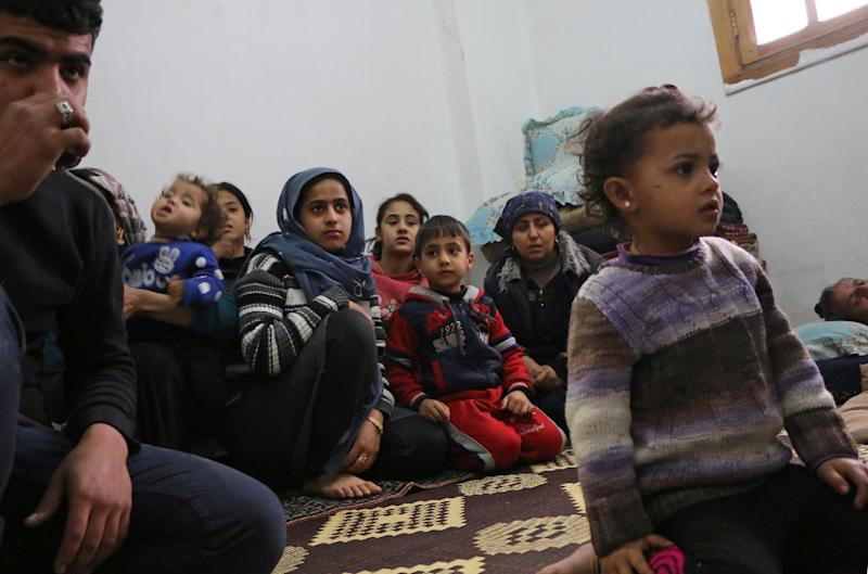 The UN estimates that between 15,000 to 30,000 people have been displaced by the Turkish-led offensive in northern Syria (AFP Photo/Ahmad Shafie BILAL)