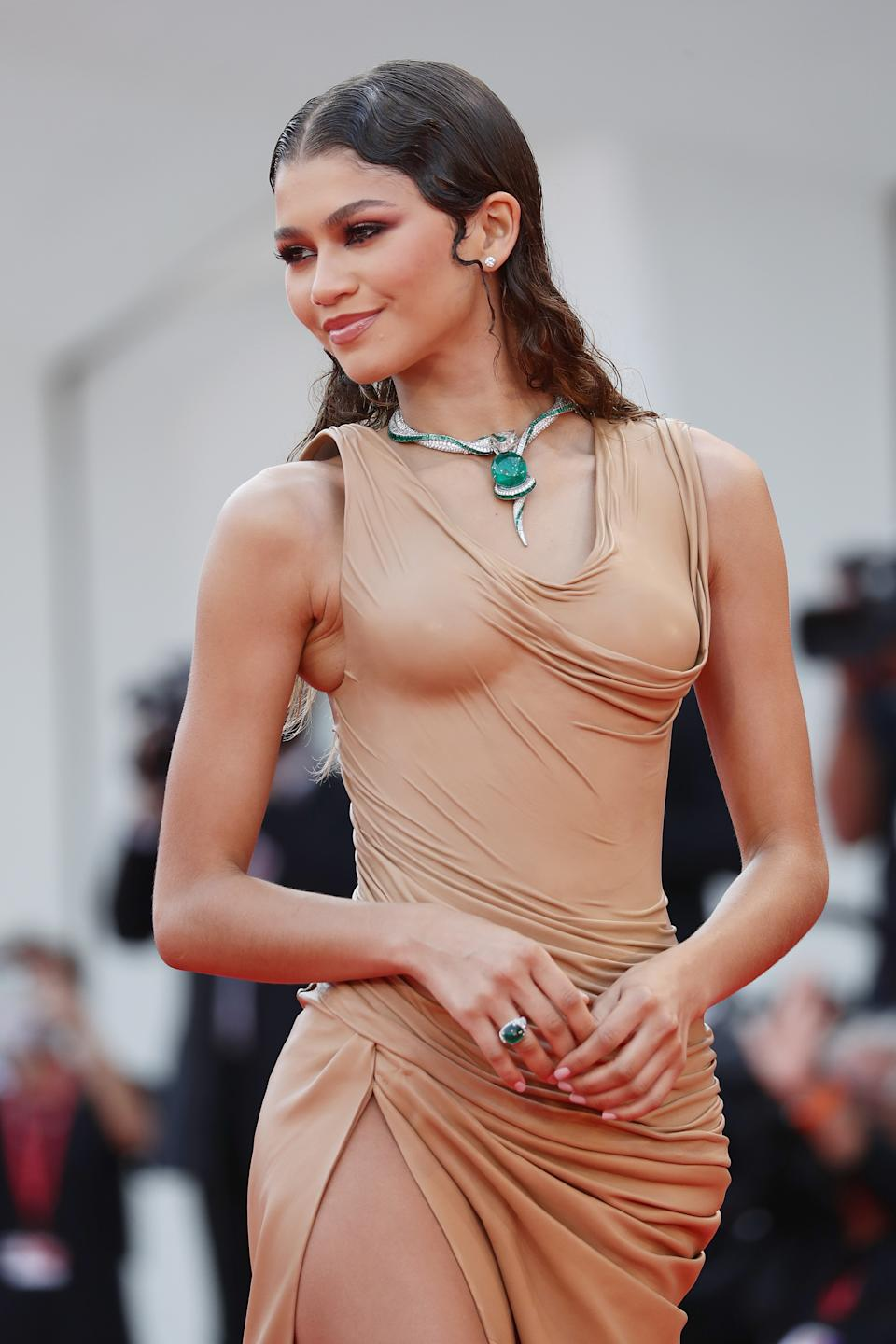 VENICE, ITALY - SEPTEMBER 03: Zendaya attends the red carpet of the movie