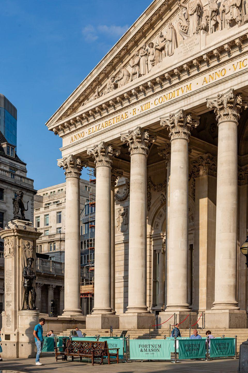 "<p>In the heart of the city, in Bank, Fortnum & Mason are reopening their terrace on the doors of the <a href=""https://www.fortnumandmason.com/the-bar-and-restaurant-at-the-royal-exchange-london"" rel=""nofollow noopener"" target=""_blank"" data-ylk=""slk:Royal Exchange"" class=""link rapid-noclick-resp"">Royal Exchange</a> building for a fine dining option while settling back into the city.</p>"