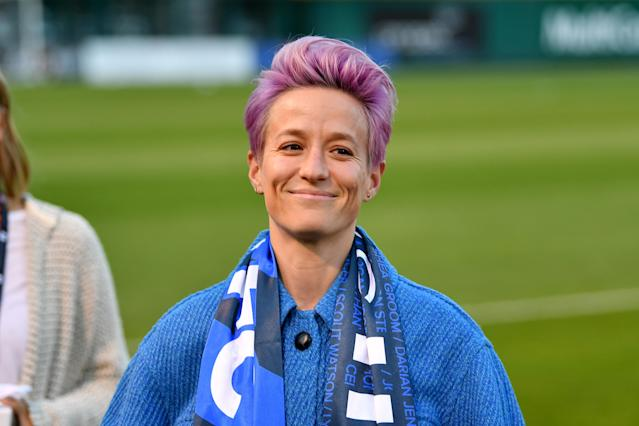 "<a class=""link rapid-noclick-resp"" href=""/olympics/rio-2016/a/1124356/"" data-ylk=""slk:Megan Rapinoe"">Megan Rapinoe</a> has partnered with women-owned CBD company Mendi. (Photo by Alika Jenner/Getty Images)"