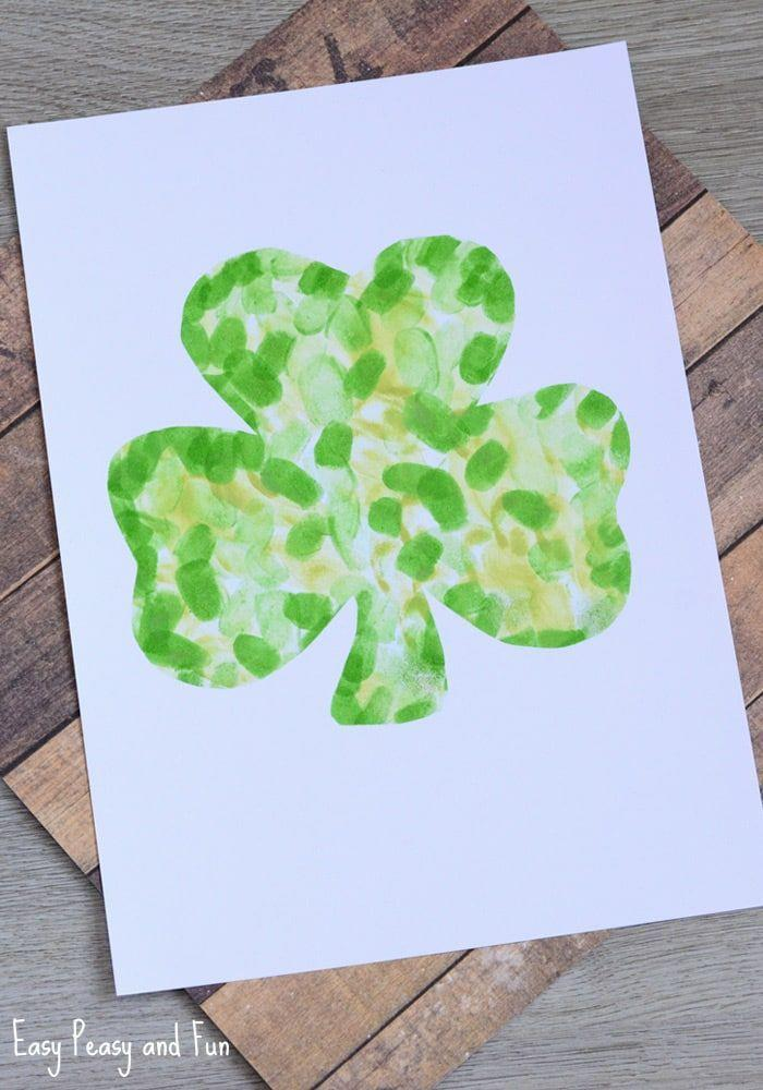 """<p>Kids will really love rolling up their sleeves and getting their hands all green to make these cute four-leaf clovers.</p><p><em><a href=""""https://www.easypeasyandfun.com/fingerprint-shamrock-craft/"""" rel=""""nofollow noopener"""" target=""""_blank"""" data-ylk=""""slk:Get the tutorial at Easy Peasy and Fun »"""" class=""""link rapid-noclick-resp"""">Get the tutorial at Easy Peasy and Fun »</a></em><br></p>"""