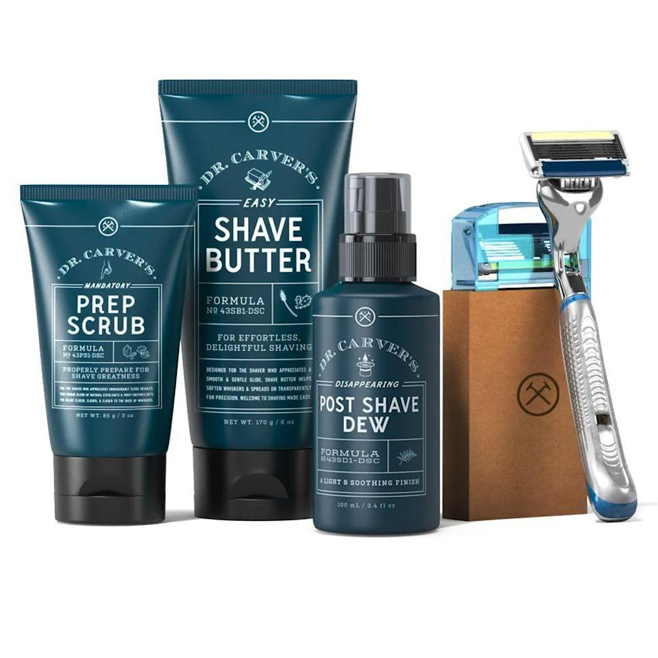 "<p><strong>Dollar Shave Club</strong></p><p>dollarshaveclub.com</p><p><strong>$43.00</strong></p><p><a href=""https://go.redirectingat.com?id=74968X1596630&url=https%3A%2F%2Fwww.dollarshaveclub.com%2Fgift%2Fsets%2Fultimate-shave-gift-set-2020&sref=https%3A%2F%2Fwww.goodhousekeeping.com%2Fholidays%2Fgift-ideas%2Fg4517%2Fgifts-for-boyfriend%2F"" rel=""nofollow noopener"" target=""_blank"" data-ylk=""slk:Shop Now"" class=""link rapid-noclick-resp"">Shop Now</a></p><p>Give him everything he needs for a soft and clean face, including a fresh razor with interchangeable cartridges, as well as pre- and post-shave products. That means no more beard burn for you. </p>"