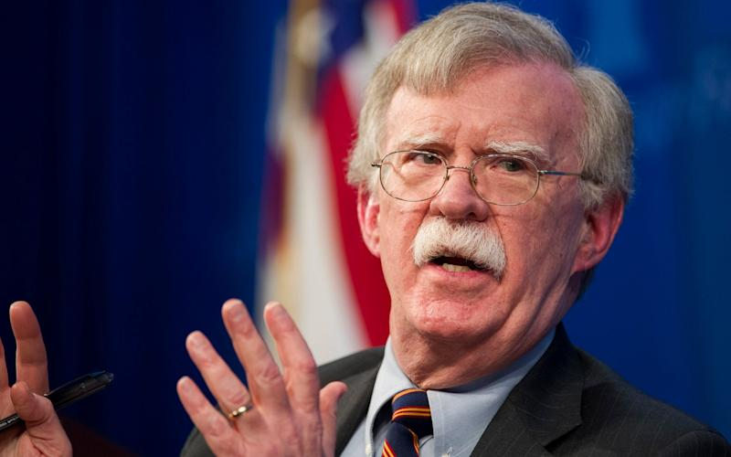 The president said he did not agree with Mr Bolton on various issues - FR170079 AP