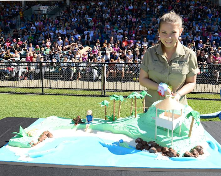 In this handout photo provided by Australia Zoo, Bindi Irwin celebrates her 15th birthday on July 24, 2013 in Beerwah, Australia. (Photo by Ben Beaden/Australia Zoo via Getty Images)