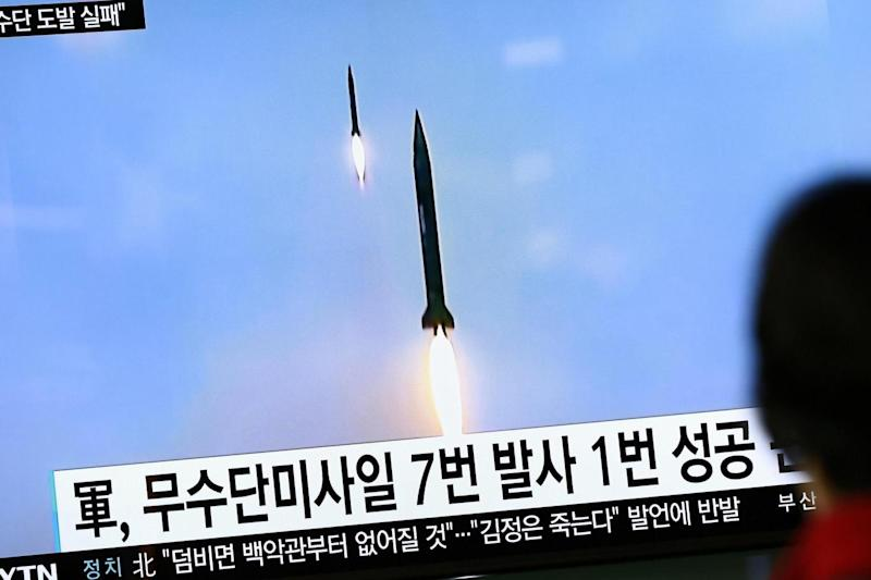 Missile: Accordng to reports on North Korea conducted a failed missile launch from its east coast (EPA)