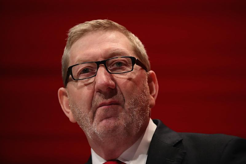 Len McCluskey addresses delegates at the 2016 Labour party conference in Liverpool: Getty