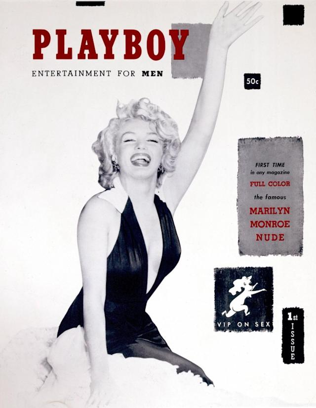 <p>Iconic actress Marilyn Monroe was the perfect cover model to help launch <em>Playboy</em> magazine. Selling for 50 cents, the first issue was produced in Hugh Hefner's kitchen. Monroe never posed for the magazine. Instead, Hefner used nude photos of her taken from a calendar. (Photo: Playboy) </p>