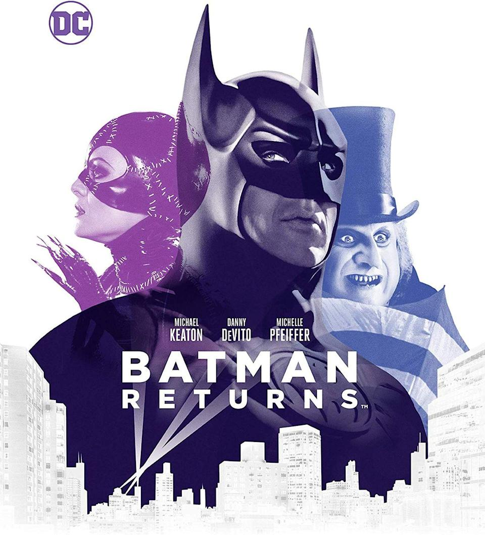 """<p>It's not the most obvious choice, but Tim Burton's second Batman movie is, in fact, a Christmas movie. Set during the holidays in Gotham, this superhero flick features a Christmas tree lighting, a holiday party, and one giant present filled with confetti and nefarious criminals.</p><p><a class=""""link rapid-noclick-resp"""" href=""""https://www.amazon.com/Batman-Returns-Michael-Keaton/dp/B001X0ZKM4/?tag=syn-yahoo-20&ascsubtag=%5Bartid%7C10055.g.1315%5Bsrc%7Cyahoo-us"""" rel=""""nofollow noopener"""" target=""""_blank"""" data-ylk=""""slk:WATCH NOW"""">WATCH NOW</a></p>"""