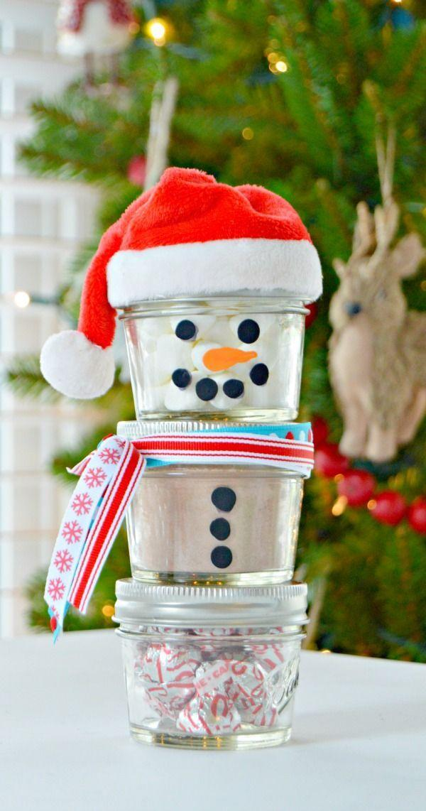 "<p>Take this snowman apart and mix the ingredients together to create a delicious cup of <a href=""https://www.countryliving.com/food-drinks/g2776/hot-chocolate-recipes/"" rel=""nofollow noopener"" target=""_blank"" data-ylk=""slk:hot chocolate"" class=""link rapid-noclick-resp"">hot chocolate</a>!</p><p><strong>Get the tutorial at <a href=""https://www.mom4real.com/hot-chocolate-mason-jar-snowman-gift-idea/"" rel=""nofollow noopener"" target=""_blank"" data-ylk=""slk:Mom 4 Real"" class=""link rapid-noclick-resp"">Mom 4 Real</a>.</strong></p><p><a class=""link rapid-noclick-resp"" href=""https://www.amazon.com/Ball-4-Ounce-Quilted-Crystal-Jelly/dp/B00RG0IWBG?tag=syn-yahoo-20&ascsubtag=%5Bartid%7C10050.g.22825300%5Bsrc%7Cyahoo-us"" rel=""nofollow noopener"" target=""_blank"" data-ylk=""slk:SHOP MASON JARS"">SHOP MASON JARS</a></p>"