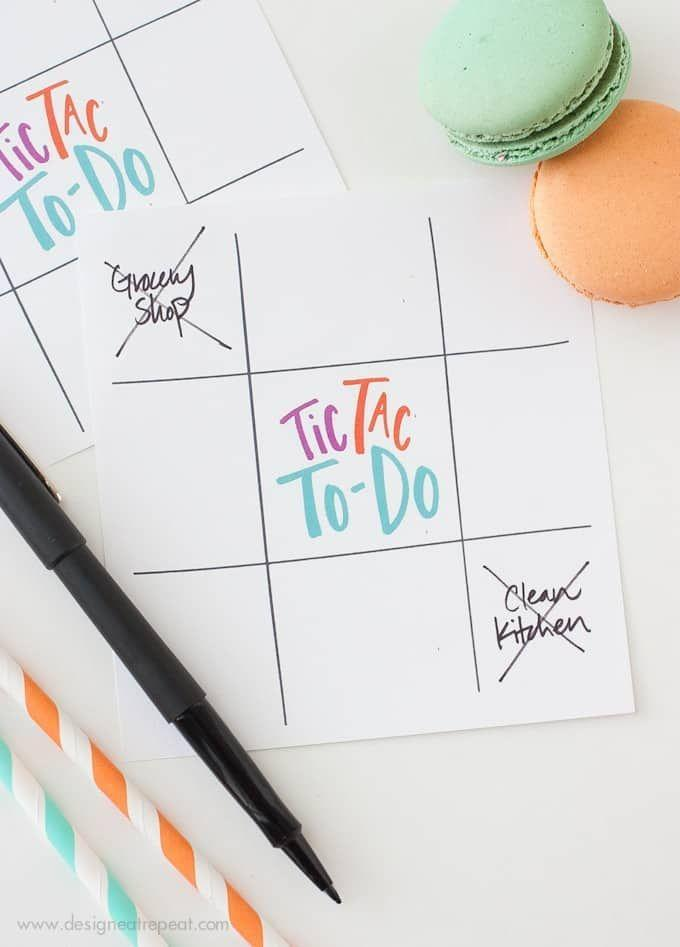 """<p>This tic-tac-to do list is so fun, you'll want to use it to motivate <em>yourself </em>to finish up your own chores. When you (or your kids) check off three in a row, treat yourselves to a fun reward.</p><a href=""""https://www.designeatrepeat.com/fun-free-printable-to-do-list/"""" rel=""""nofollow noopener"""" target=""""_blank"""" data-ylk=""""slk:Get the printable at Design Eat Repeat."""" class=""""link rapid-noclick-resp""""><strong><em>Get the printable at Design Eat Repeat.</em></strong></a>"""