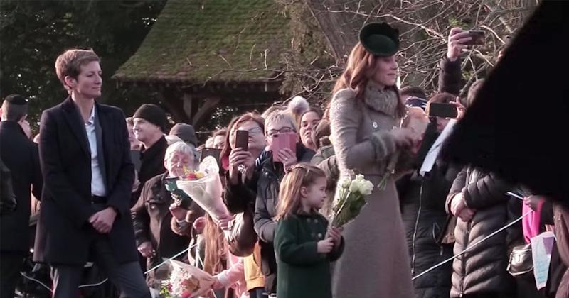 Princess Charlotte Clutches Flowers Gifted to Her by 6-Year-Old Boy During First Christmas Walk