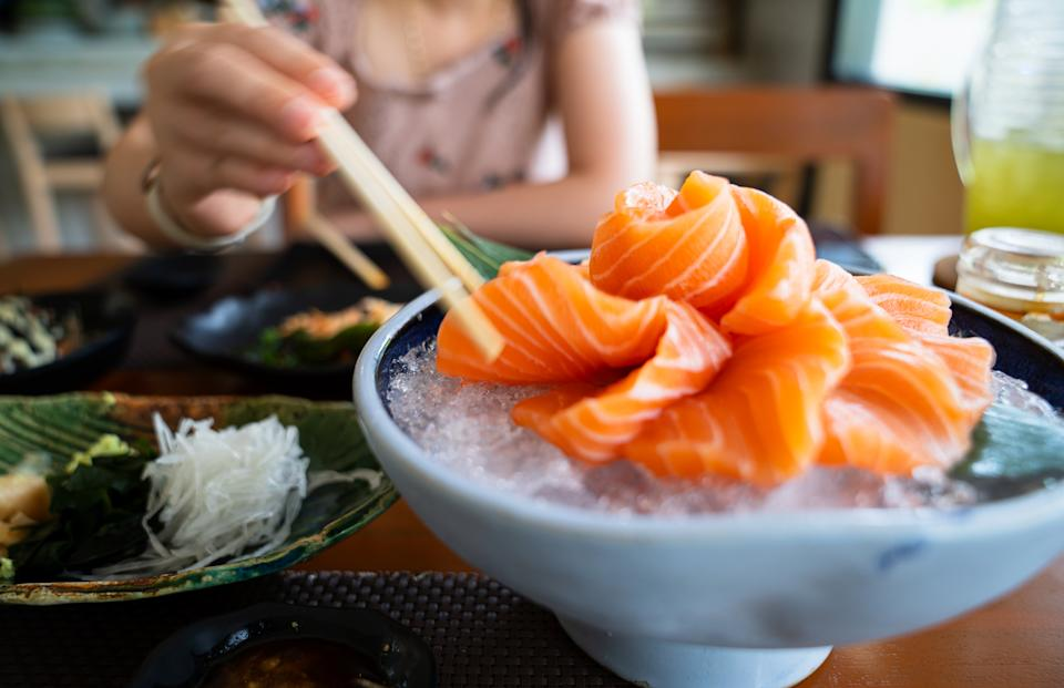 Free sushi was on offer for anyone who had Salmon in their name. Source: Getty