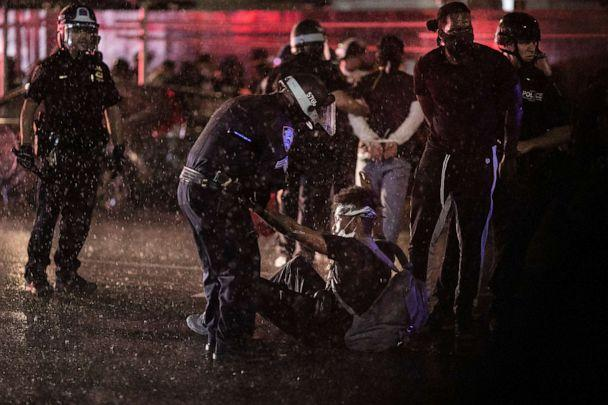 PHOTO: Police arrest protesters for breaking an imposed curfew by marching through Manhattan, June 3, 2020, in New York. (Wong Maye-e/AP)