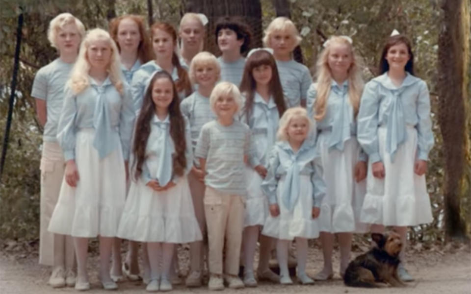 The children assembled in a group. Source: YouTube/ The Family trailer