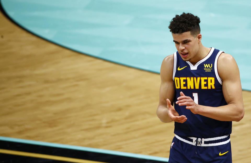 Michael Porter Jr. has been thrust into a bigger role after Jamal Murray's ACL tear. (Jared C. Tilton/Getty Images)