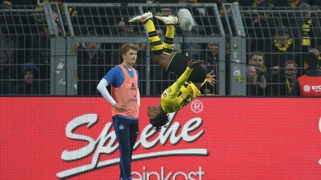 <p>Borussia Dortmund 2 Hamburg 0: Batshuayi helps give Reus a winning return</p>