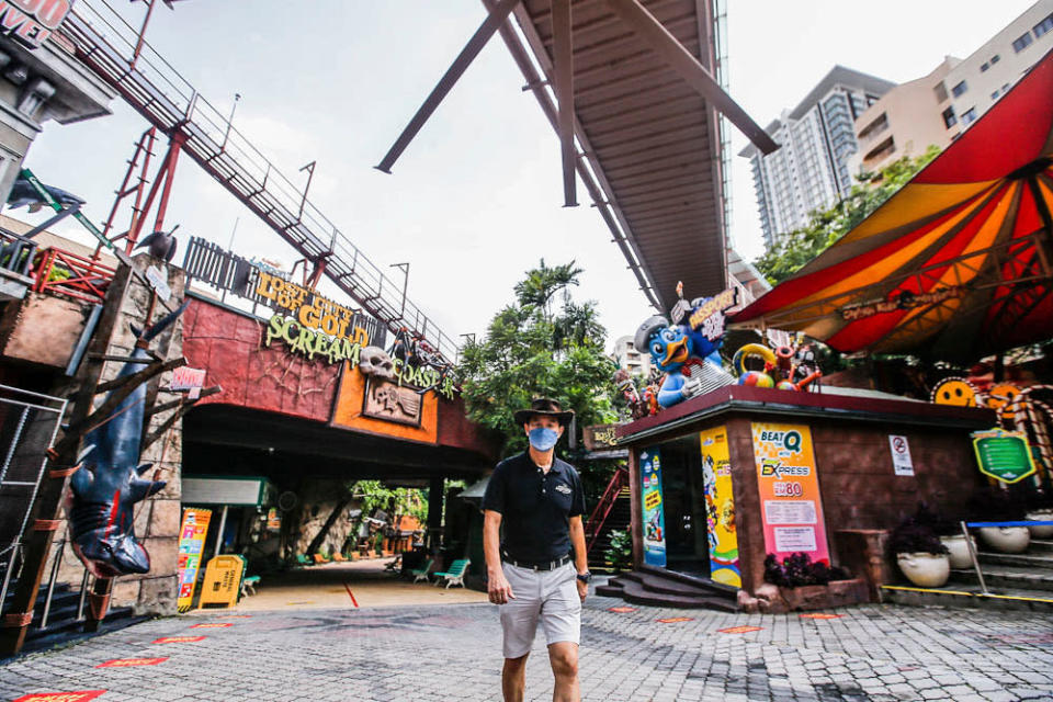 Sunway Theme Parks executive director Calvin Ho said several new features have been added to Sunway Lagoon. — Picture by Hari Anggara