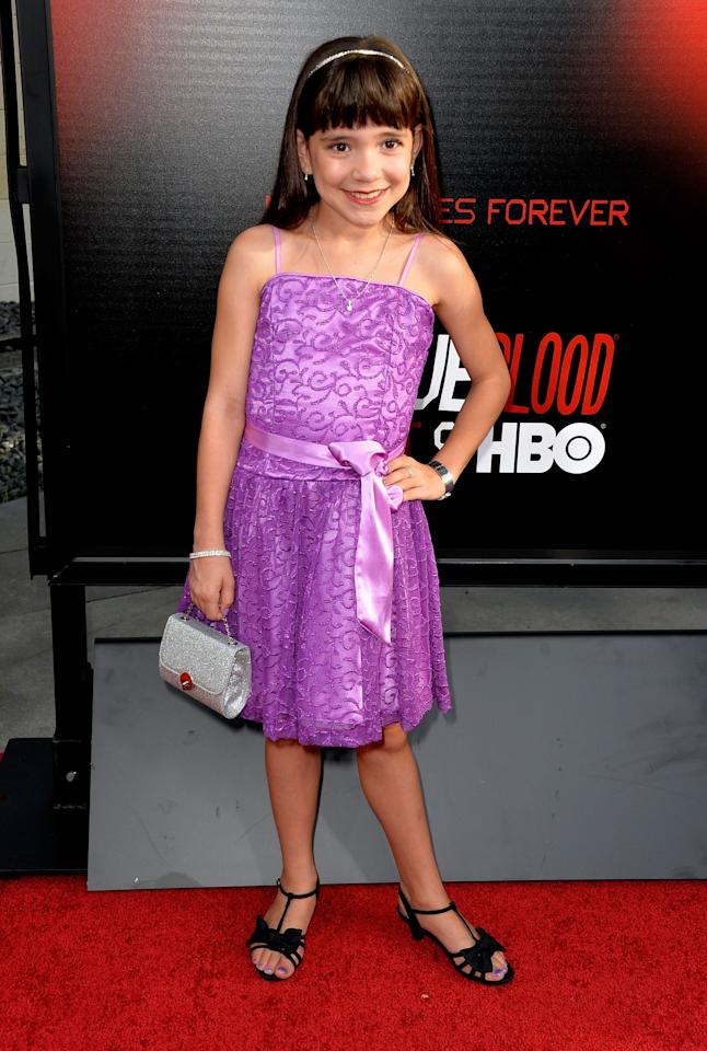 HOLLYWOOD, CA - JUNE 11:Actrress Chole Noelle attends the premiere of HBO's 'True Blood' Season 6 at ArcLight Cinemas Cinerama Dome on June 11, 2013 in Hollywood, California. (Photo by Frazer Harrison/Getty Images)