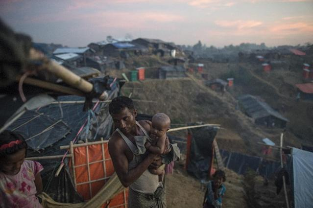 The arrival of more than half a million Rohingya Muslims from Buddhist-dominated Myanmar since August 25 has put an immense strain on camps in Bangladesh where there are growing fears of a disease epidemic (AFP Photo/FRED DUFOUR)