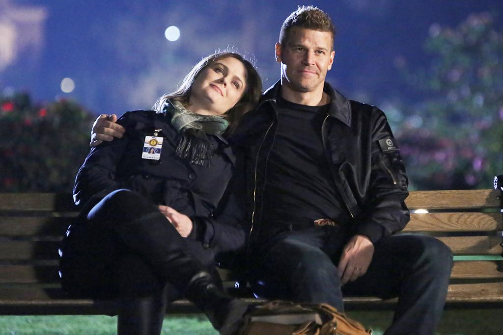 <p>Emily Deschanel as Temperance Brennan and David Boreanaz as Seeley Booth in Fox's <em>Bones</em>.<br /><br />(Credit: Aaron Epstein/Fox) </p>