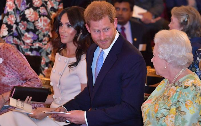 Monday's statement demonstrated the Queen again trying to walk the tightrope of maintaining family unity while trying to avoid public outrage - PA