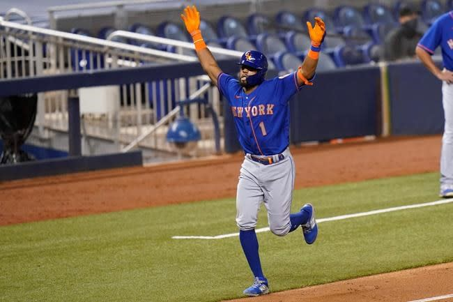 Nimmo's 3 hits, 2 RBIs paces Mets to 8-3 win over Marlins