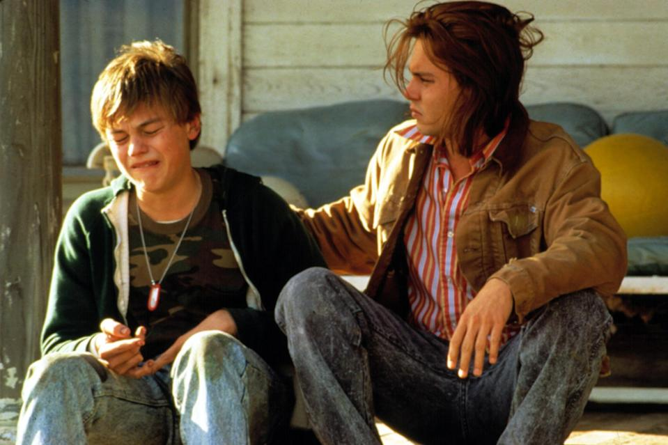 """<p>Well, this wasn't exactly teen heartthrob status, but it was quite the breakthrough for the 19-year-old actor. DiCaprio's performance as the sweet Arnie lands in the top 10 because of the challenges involved with such a delicate role and the fact that it was pulled off by someone so early in their career. While <a href=""""https://ew.com/tag/johnny-depp/"""" rel=""""nofollow noopener"""" target=""""_blank"""" data-ylk=""""slk:Johnny Depp"""" class=""""link rapid-noclick-resp"""">Johnny Depp</a> was the titular Gilbert Grape and already a bonafide star, it was Leo who stole the well-received drama — and his first Oscar nomination.</p> <p><b>Related:</b> <a href=""""https://ew.com/article/2014/02/16/gilbert-grape-at-20-when-johnny-met-leo/"""" rel=""""nofollow noopener"""" target=""""_blank"""" data-ylk=""""slk:Gilbert Grape at 20: When Johnny met Leo"""" class=""""link rapid-noclick-resp""""><i>Gilbert Grape</i> at 20: When Johnny met Leo</a></p>"""